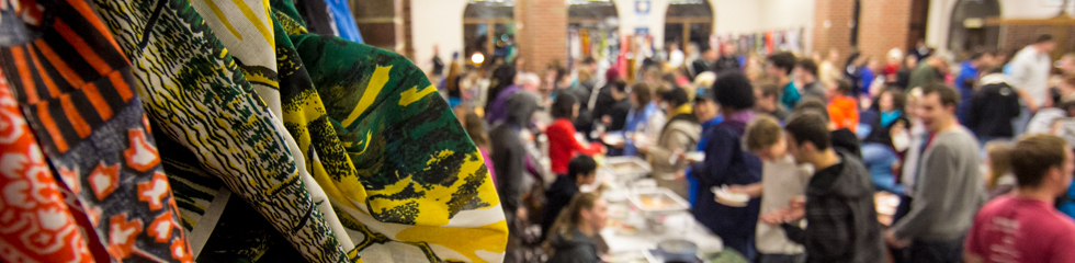 Students enjoy food at the 2014 International Food Fest