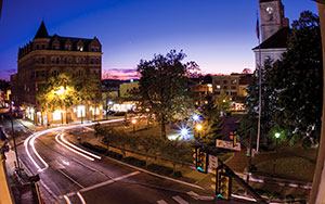 City of Harrisonburg at night