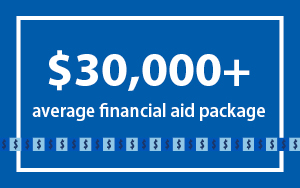 Average financial aid package is $30,000