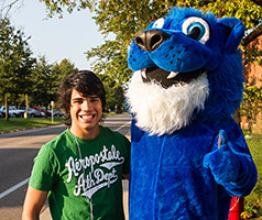 Eastern Mennonite University Mascot Herm