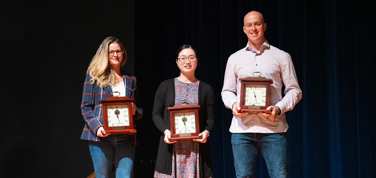Alumni Awardees 2019, Liza Heavener, Wu Wei, and Erik Kratz