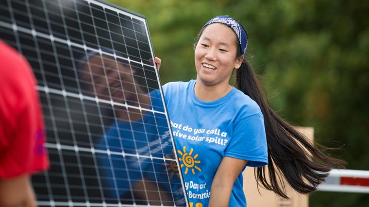 EMU students raise funds and install solar panels