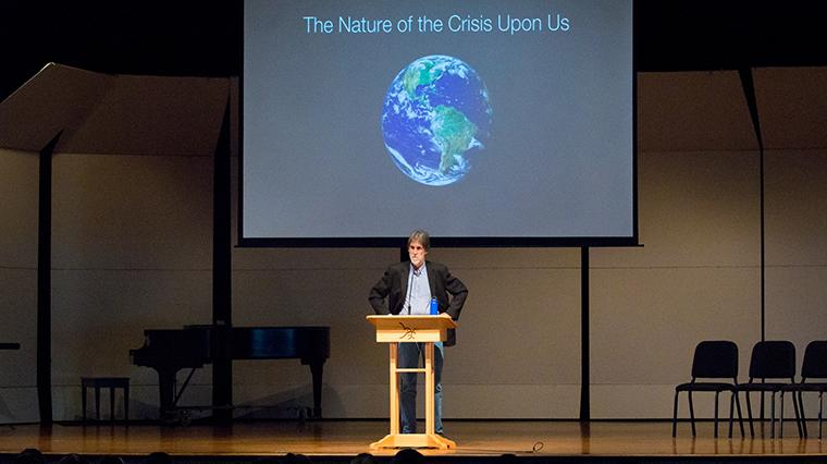 Jim Shultz leads convocation on climate justice