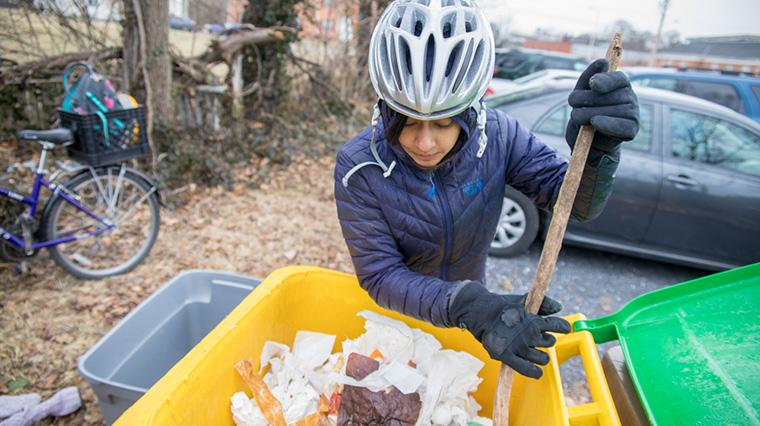 EMU senior's Soil Cycles business by cycle collects compost