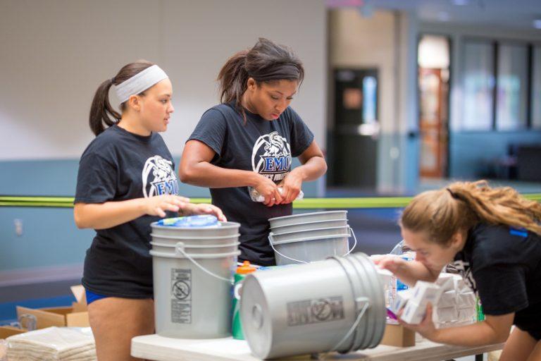 Hurricane relief efforts unite concerned EMU students