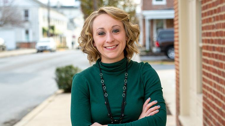 Lorraine Armstrong Hohl '17 becomes borough manager of Greencastle, Pennsylvania.