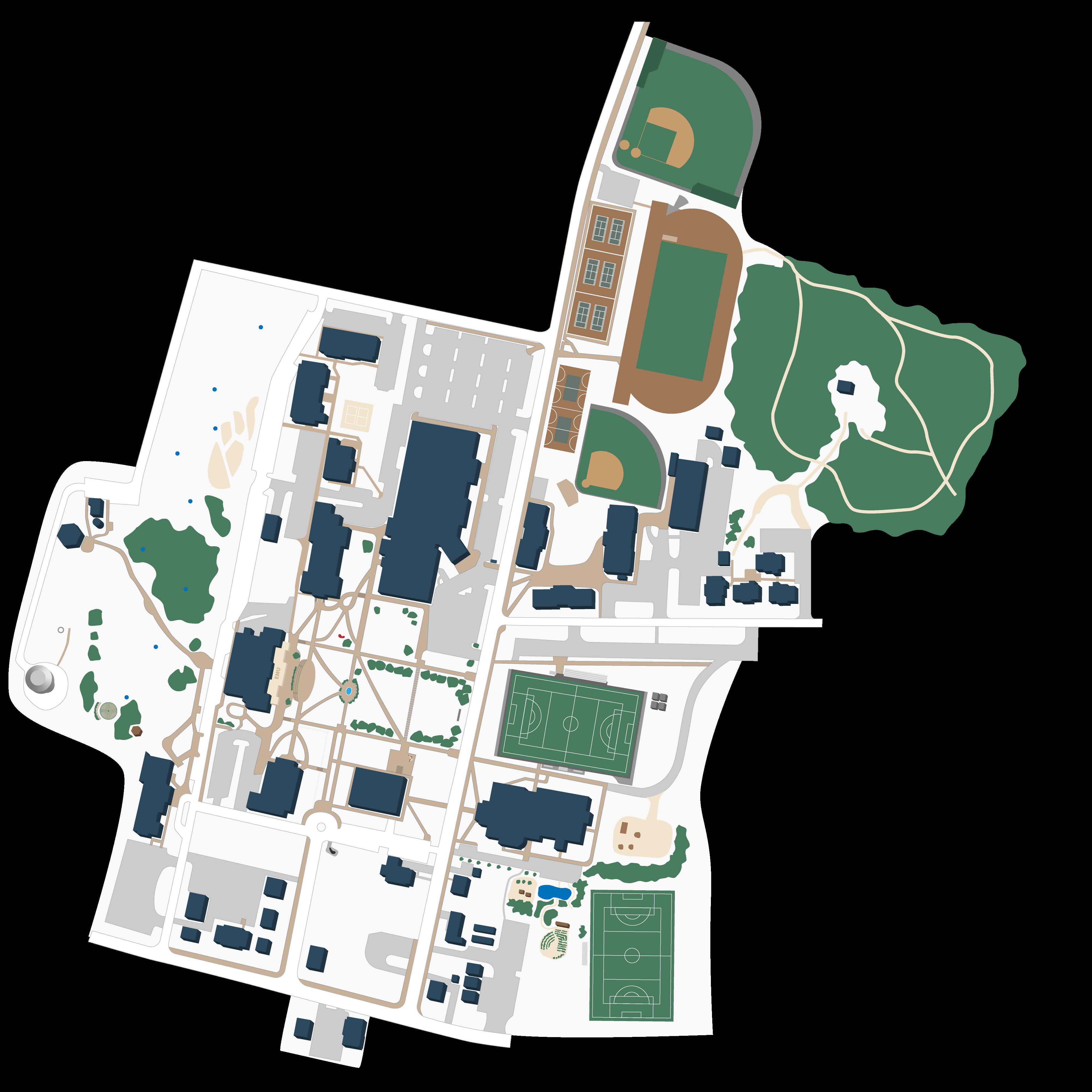eastern university campus map Emu Campus Map Harrisonburg Campus eastern university campus map
