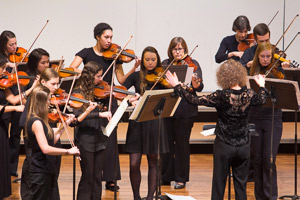 The EMU music program's orchestra