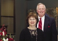 President Loren Swartzendruber '76, MDiv '79, DMin, with his wife Pat