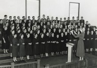 The Vespers Chorus, pictured in the 1956 Shen.
