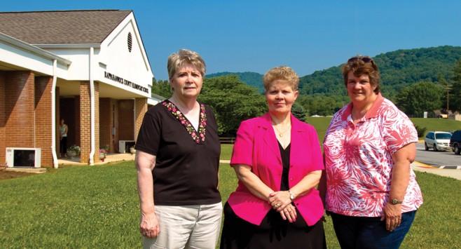 Joyce Wharton '05, Linda Welk '05 and Ginger Estes '08