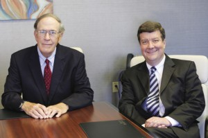 As co-directors of The Burford Leimenstoll Foundation, wealth management expert W. Bates Chappell (left) and attorney Bruce L. Mertens strive to uphold the wishes and priorities expressed by its founder, Betty Sams Christian.