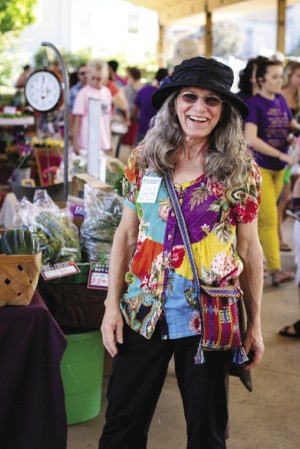 Josie Showalter is the current manager of the Farmers Market, which has grown to nearly 70 vendors on Tuesday and Saturday mornings, plus musical performers and much socializing.