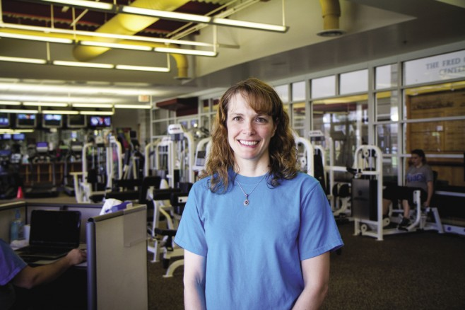 Lori Hertzler Schrock '93 is the program director at the Funkhouser Wellness Center of Bridgewater College.