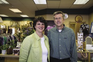 "Deb '86 and Ken '80 Layman co-manage Tried and True, a thrift shop that supports the Church of the Brethren's  Global Food Crisis Fund and the ""Generations at Risk"" HIV/AIDS Fund of Mennonite Central Committee."