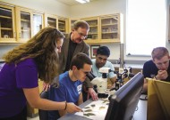 Conley McMullen '78 (standing center) has been teaching biology at James Madison University for 17 years.