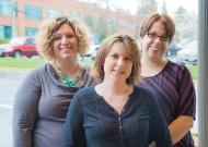 Carlita Sheldon, Sara Kiser, and Erin Fadeley
