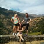 Becka, Mandy, and Michelle in the Sierra Nevada. Photo by: Josh Sauder