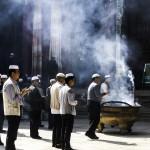 Prayers at Linxia mosque