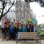 Cross cultural group in front of La Sagrada Familia. Photo by: Taylor Waidelich