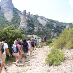 Hiking through Spain near Monserrat, the monestary near Barcelona. Photo by: Taylor Waidelich