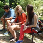 Alex, Becka, and Mandy in a park in Granada, Spain. Photo by: Taylor Waidelich