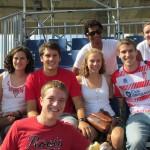Taylor, Holly, Alex, Lucas, Angelina, Roberto, James, and Mattie at a soccer game in Granada, Spain. Photo by: Kara Lofton