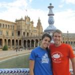 Sara and James in Seville, Spain. Photo by: Kara Lofton