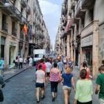 Walking through the streets of Barcelona. Photo by: Josh Sauder