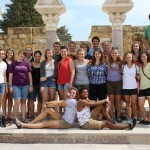 Cross cultural group at the Jewish ruins in Córdoba, Spain. Photo by: Taylor Waidelich