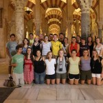 Cross cultural group at La Mezquita in Córdoba, Spain. Photo by: Taylor Waidelich