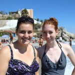 McKenzie and Michelle at the beach near Nerja, Spain. Photo by: Taylor Waidelich