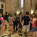 Learning about the largest gothic style cathedral in the world. Photo by: Taylor Waidelich
