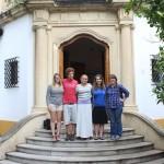 Taylor, Phil, Kara, Annika, Melinda at one of the school buildings in Granada, Spain. Photo by: Maria Snell-Feikema