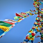 Prayer flags Photo by Dylan A. Bomgardner