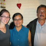 Sierra with Carias host family