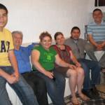 Katherine with Morataya host family