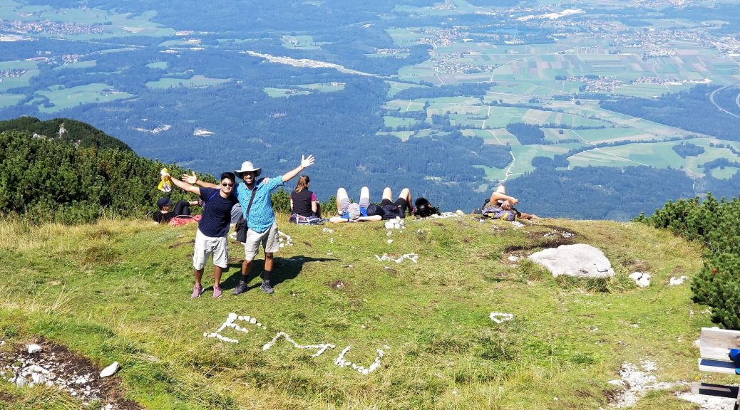 Zafri and Yoel on top of the Untersberg mountain