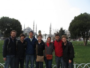 Ind.travel in front of Hagia Sophia