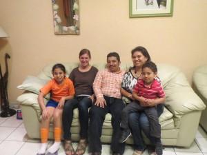 Leona with Familia Polanco