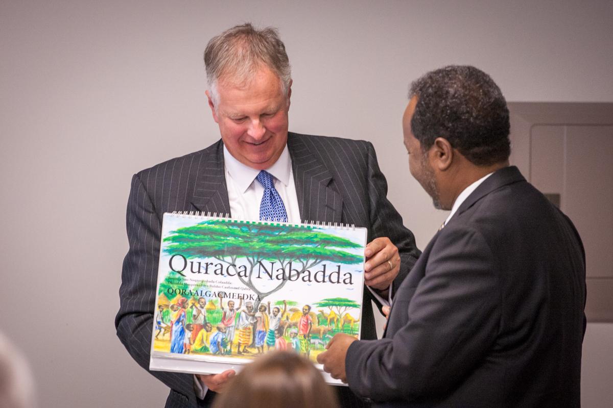 President of Somalia welcomed
