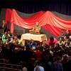 Campus pastor Brian Martin Burkholder leads a prayer of blessing and sending during Spring 2011 convocation