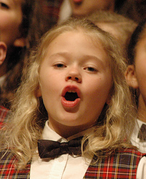 Chorister Chloe Weaver, 5th grader from Linville, Va., is in the SVCC Treble Choir. She is the daughter of Dean and Andrea Weaver.