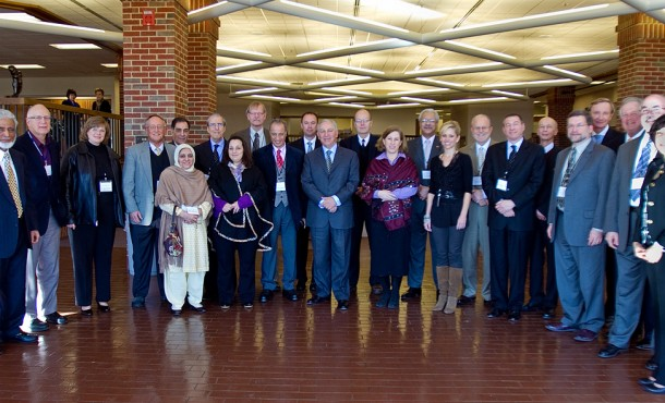 Participants in the Muslim-Christian dialogue at Eastern Mennonite University