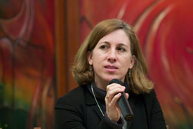 Lisa Schirch, executive director of the 3D Security Initiative and EMU professor of peacebuilding