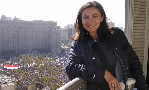 Jihan Al-Alaily in Tahrir Square