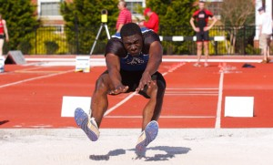 EMU track and field student-athlete Michael Allen