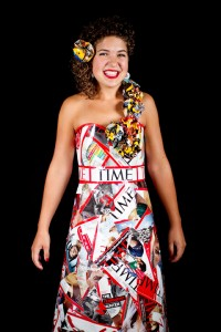"Sophia Mast's ""wa(i)sted time"" dress won the Facebook vote at the 2011 Mennonite Youth Convention in Pittsburgh, Pa."
