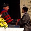 Aaron receives diploma
