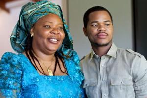 Leymah Gbowee and her son Joshua Mensah